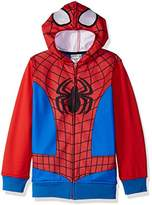 Marvel Big Boys' Spiderman Fleece Zip Costume Hoodie