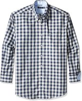 Nautica Men's Big-Tall Wrinkle Resistant Whitecap Plaid Shirt