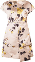 Rochas floral panel kimono dress - women - Silk/Polyester - 38