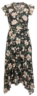 Dorothy Perkins Womens Green Floral Foil Print Midi Dress, Green