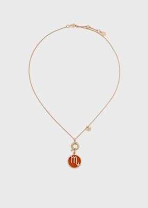 Emporio Armani Women'S Scorpio Rose Gold-Tone Sterling Silver Pendant Necklace