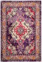 Safavieh Monaco Vintage Bohemian 4-Foot x 5-Foot 7-Inch Area Rug in Violet/Fuchsia