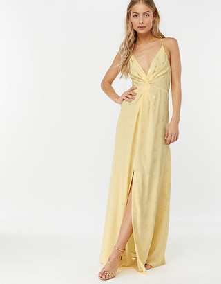 Under Armour Karlie Knot Front Jacquard Dress Yellow