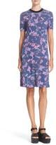 Carven Women's Floral Print T-Shirt Dress