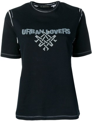 Mr & Mrs Italy printed 'urban lovers' T-shirt