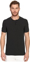 Dolce & Gabbana Stripes Short Sleeve R-Neck T-Shirt w/ Buttons