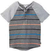 Splendid Short Sleeve Raglan Mixed Stripe Tee (Little Boys)