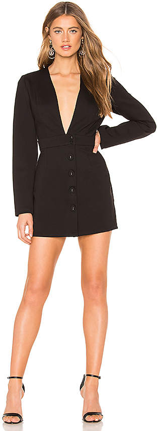 Krisa Deep V Blazer Dress