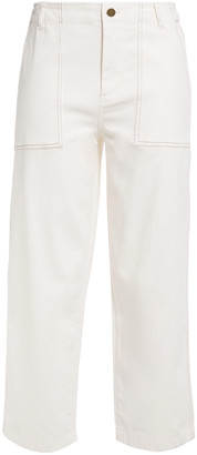 Charli Cropped Stretch-cotton Straight-leg Pants