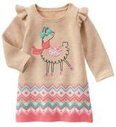 Gymboree Llama Sweater Dress