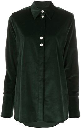 Victoria Victoria Beckham Pinstriped long-sleeve shirt
