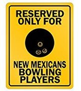 SignPirates Reserved only for New Mexico Bowling Players - Usa States - Parking Sign [ Decorative Novelty Sign Wall Plaque ]