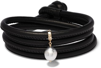 Mizuki 14kt Yellow Gold Pearl Wrap Bracelet
