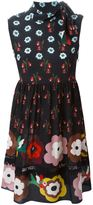 RED Valentino flower print skater dress - women - Silk - 44