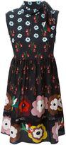 RED Valentino flower print skater dress - women - Silk - 44