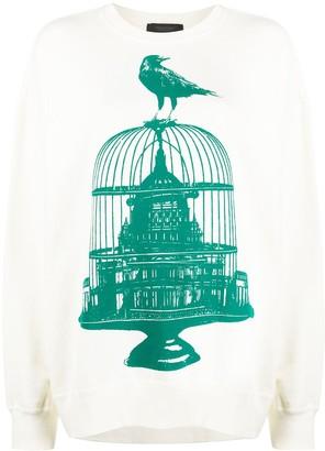 Undercover Birdcage Print Sweater