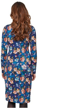Joe Browns Gorgeous Botanical Wrap Dress - Blue Multi