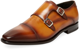 Antonio Maurizi Men's Leather Double Monkstraps Shoe