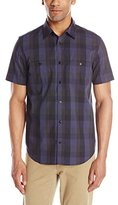 Calvin Klein Men's Square Multi Check Short Sleeve Woven Shirt
