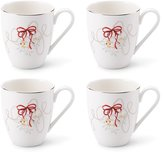 Mikasa Love Story Holiday Mugs, Set of 4