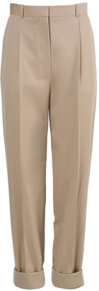 The Row Marta Beige Wool Pants