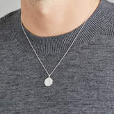 LILY & ROO Men's Silver Or Gold Octagon St Christopher Necklace
