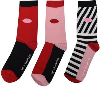 Lulu Guinness 3 Pack Socks