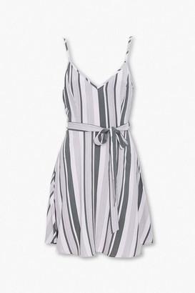 Forever 21 Striped Tie-Waist Dress