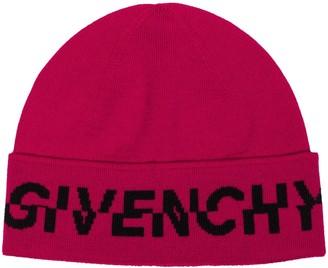 Givenchy Logo-Intarsia Beanie Hat
