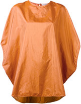 Jil Sander cropped sleeves blouse - women - Silk/Polyamide - 34
