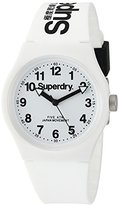 Superdry 'Urban' Quartz Plastic and Silicone Dress Watch, Color:White (Model: SYG164WW)