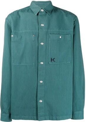 Kenzo Striped Snap Button Shirt
