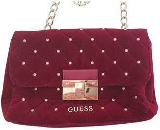 GUESS Burgundy Velvet Clutch bags