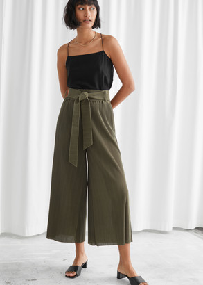 And other stories High Waist Tie Belt Trousers