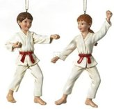 "Kurt Adler 5 25"" POLYRESIN KARATE ORNAMENT, SET OF 2 ASSORTED - Christmas Ornament"
