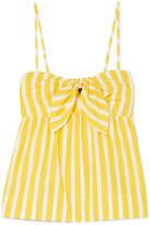 J.Crew Mireille Knotted Striped Cotton-poplin Camisole