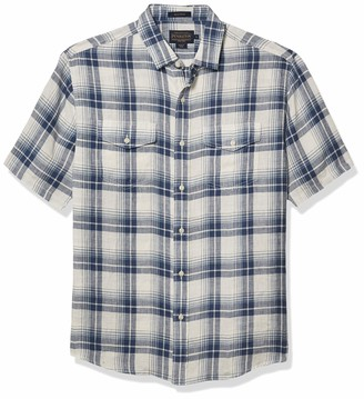 Pendleton Men's Short Sleeve Button Front Malone Shirt