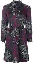 Armani Jeans rose print shirt dress