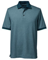 Classic Men's Tall Supima Tipped Birdseye Polo Shirt-Deep Teal/Pale Sky Oxford