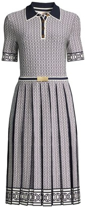 Tory Burch Gemini Link A-Line Polo Dress