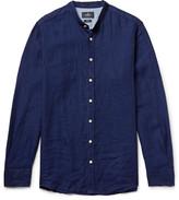 Hackett - Slim-fit Grandad-collar Slub Linen Shirt