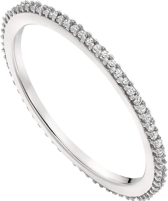 Monica Vinader Skinny sterling silver and diamond eternity ring