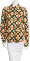 Miu Miu Polka Dot Button-Up Top