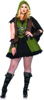 Leg Avenue Women's Plus-Size 3 Piece Darling Robin Hood Costume