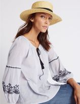 Marks and Spencer Boater Summer Hat