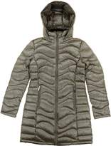 Andrew Marc Women's Long Length Down Puffer Jacket with Hood (, Shine Taupe)