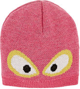 Fendi Monster Eyes Virgin Wool Hat-PINK