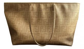 Fendi Roll Bag Gold Cloth Handbags