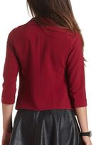 Charlotte Russe Open Front Cropped Blazer