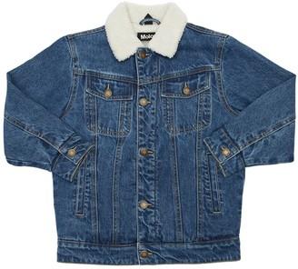 Molo Cotton Denim & Faux Shearling Jacket